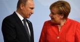 Путин принимает Меркель в Кремле